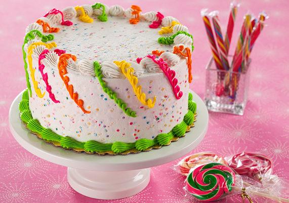 Confetti icing round cake glam