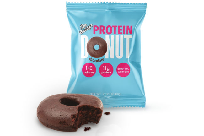Jim Buddy's Protein Donuts chocolate protein donut