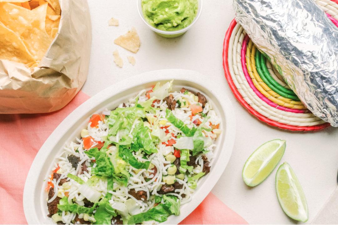 DoorDash Chipotle burrito bowl