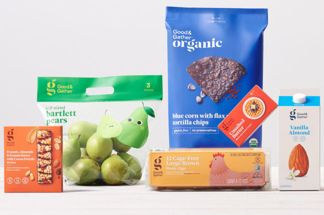 Target Good & Gather food and beverage products