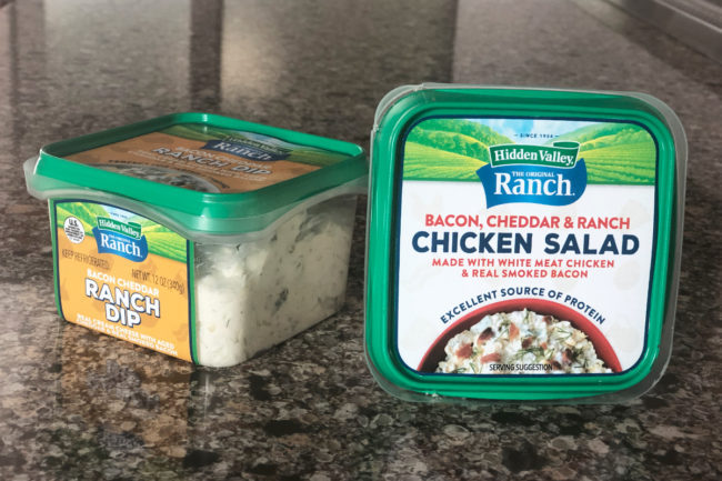 Hidden Valley Ranch dips and chicken salads