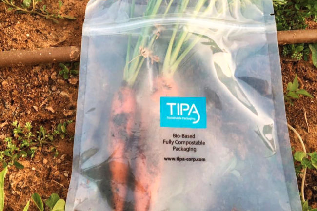 TIPA decomposing sustainable packaging
