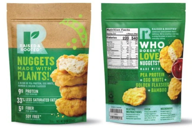 Tyson Raised & Rooted plant-based nuggets