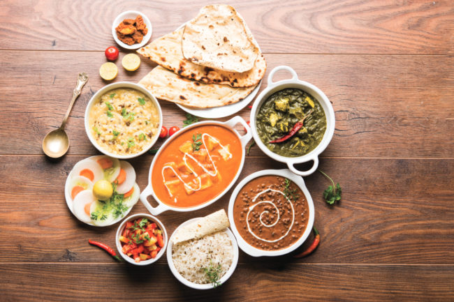 African and Indian foods