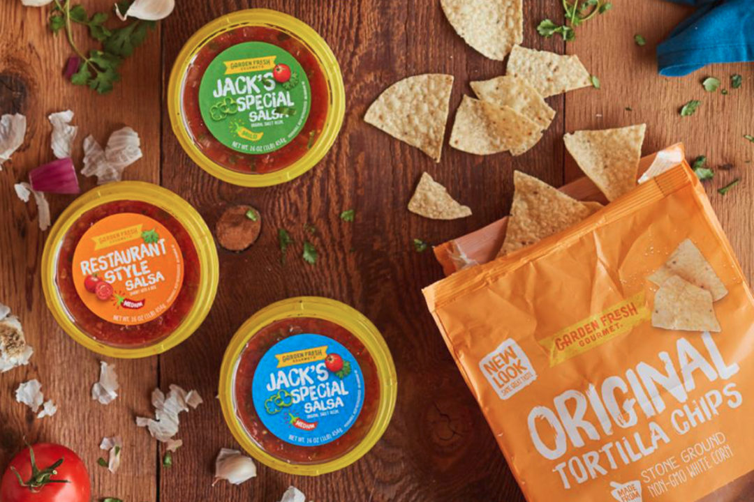 Garden Fresh Gourmet salsa and chips