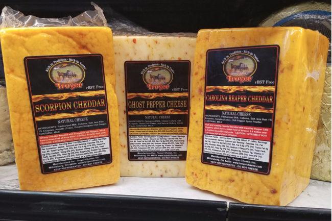Troyer Cheese spicy cheese varieties