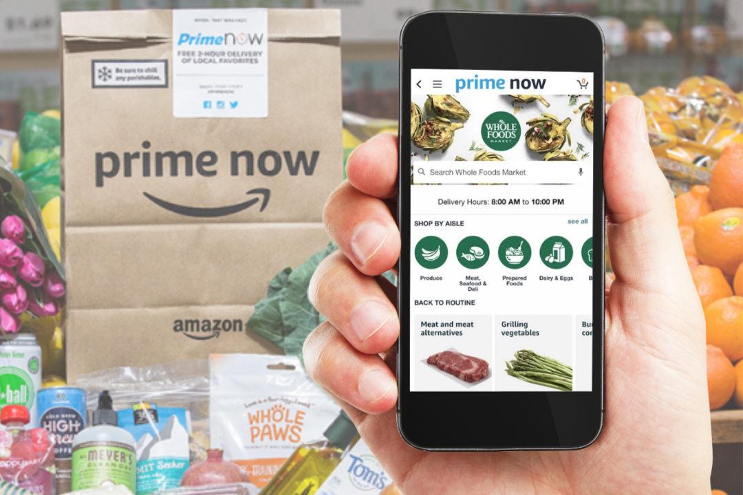 Whole Foods Amazon Prime Now app