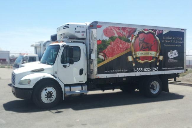 J&M Wholesale Meats truck