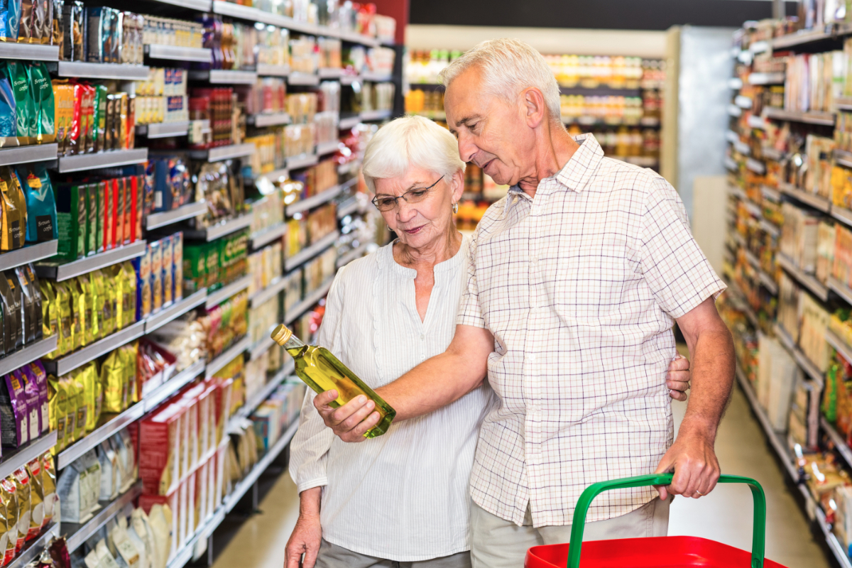Baby Boomers grocery shopping
