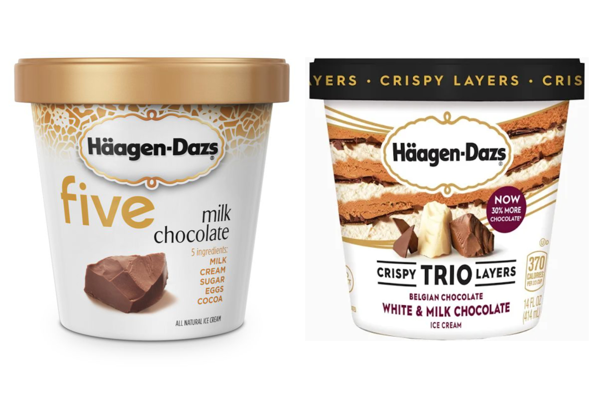 Häagen-Dazs five and trios ice creams
