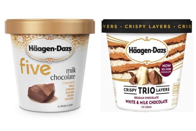 Häagen-Dazs five and trios ice creams, Nestle