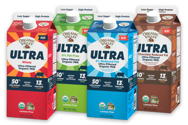 Organic Valley Ultra organic, ultra-filtered milk