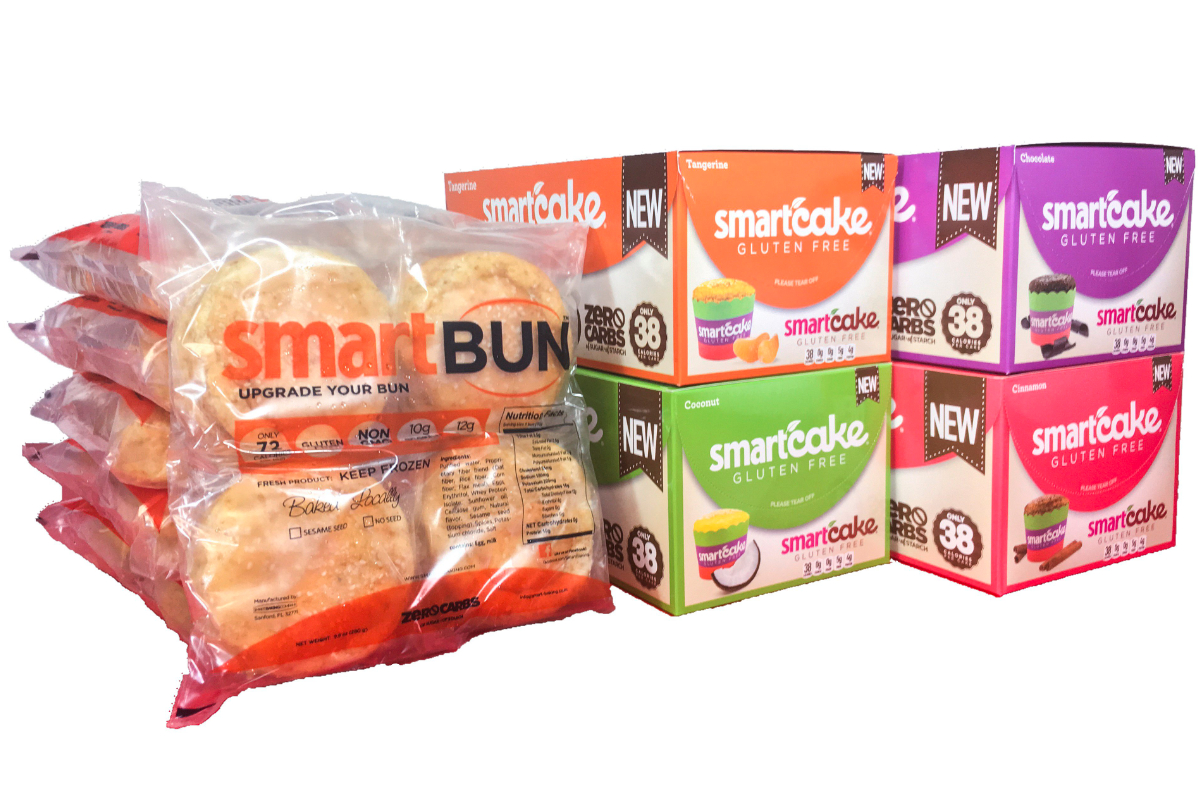 Smart Baking Co. gluten-free Smartbuns and Smartcakes