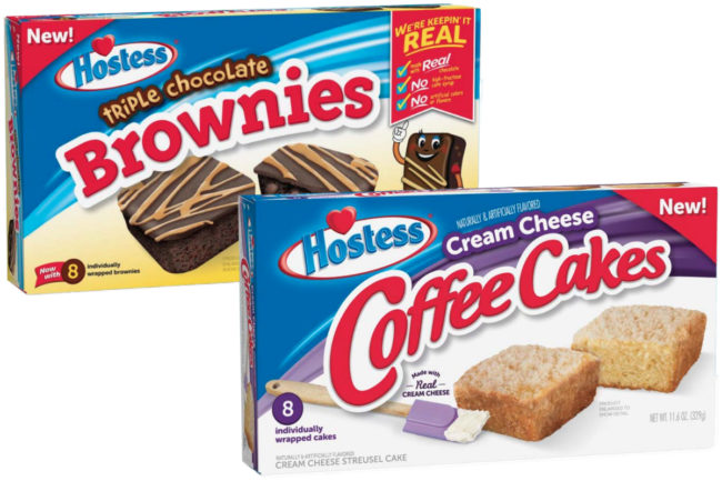 Hostess Triple Chocolate Brownies and Cream Cheese Coffee Cakes