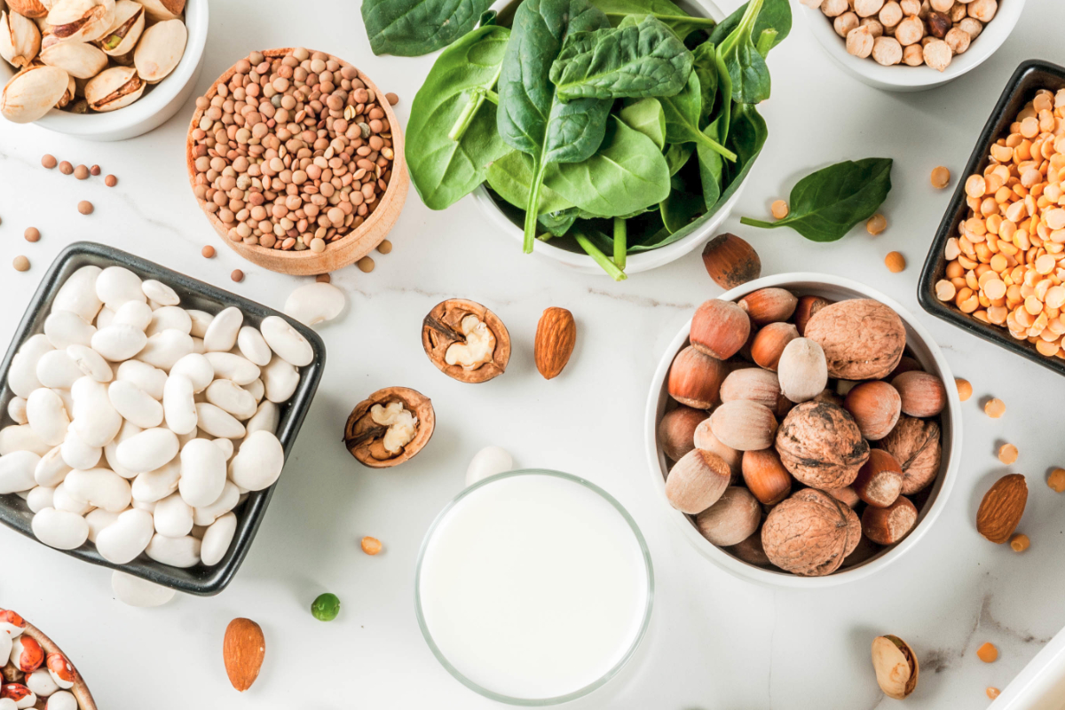 Plant protein nuts and lentils