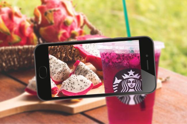 Starbucks dragon fruit drink