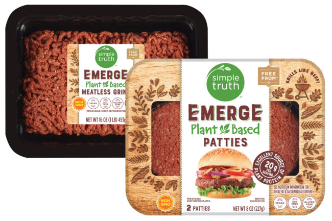 Kroger Simple Truth Emerge plant-based meats
