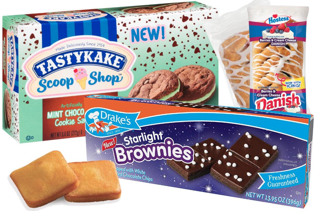 Snack cakes from Hostess, Tastykake, Drake's