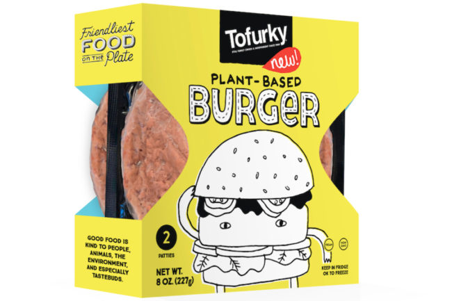 Tofurky plant-based beef-style burger