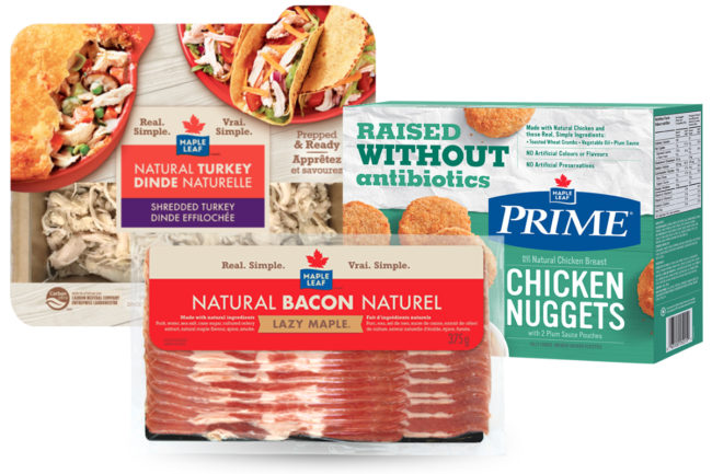 Maple Leaf Foods Meat Protein Group products