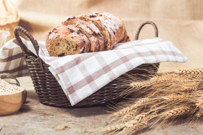 Bread in basket
