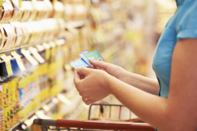 Grocery shopping with coupons