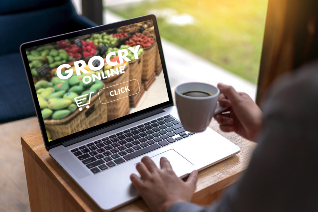 Grocery shopping online from home