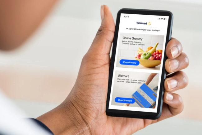 Walmart online grocery delivery app