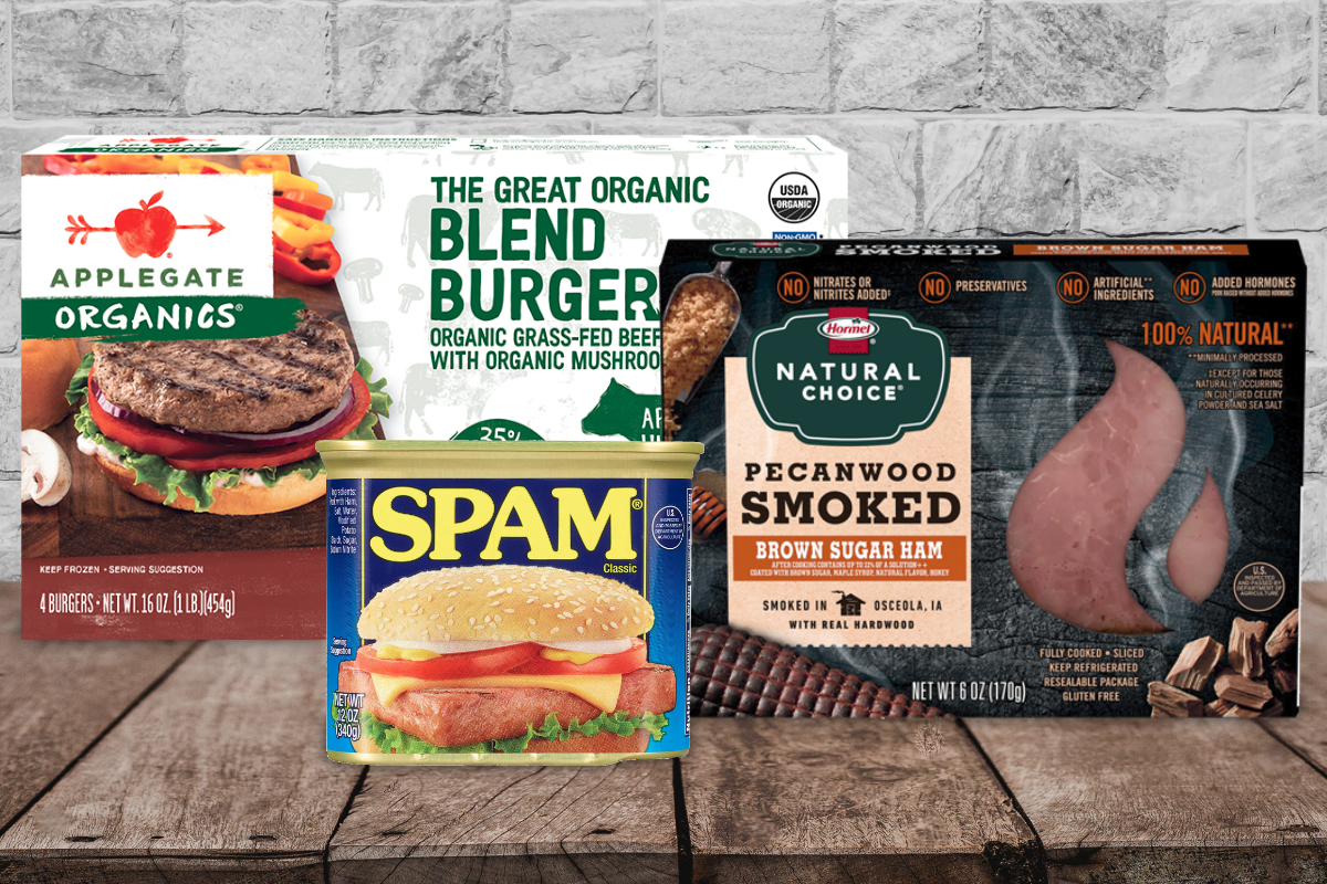 Hormel Foods products - Applegate, Natural Choice and SPAM