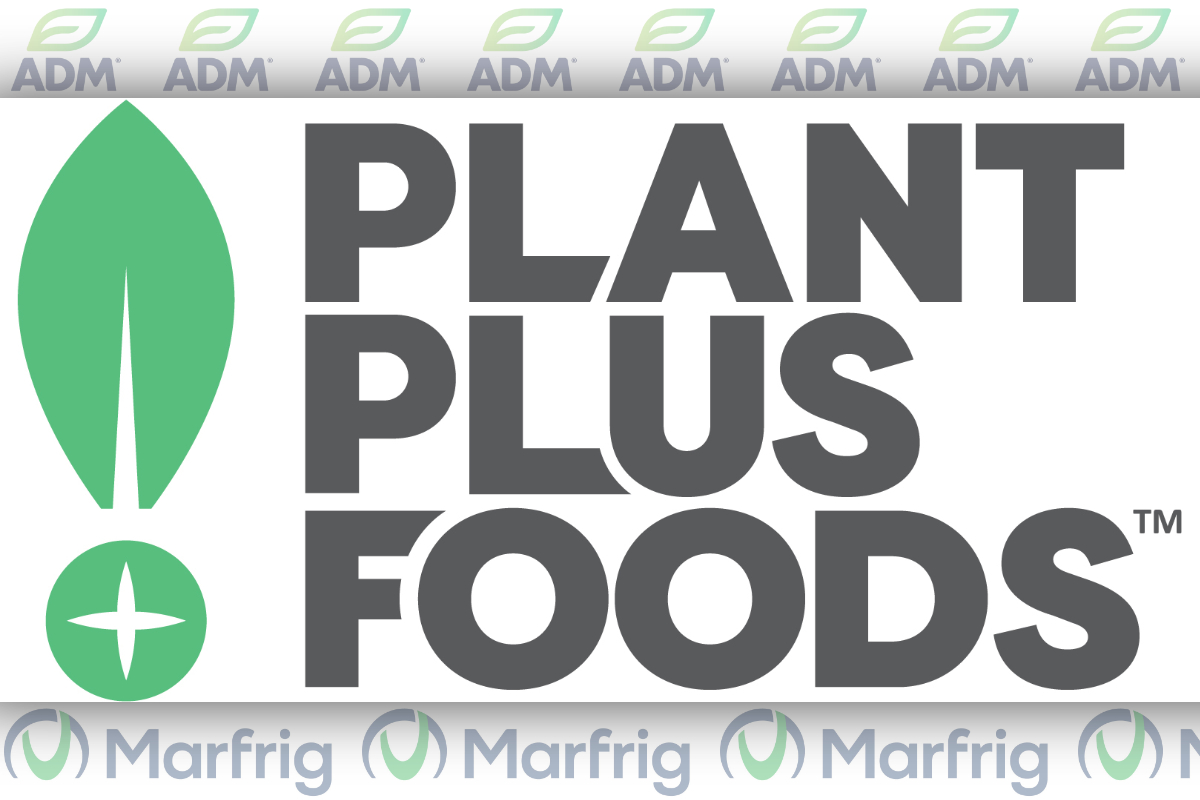 PlantPlus Foods logo, ADM and Marfrig