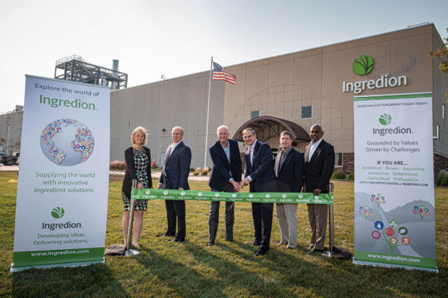 Ingredion plant-based protein manufacturing facility ribbon cutting