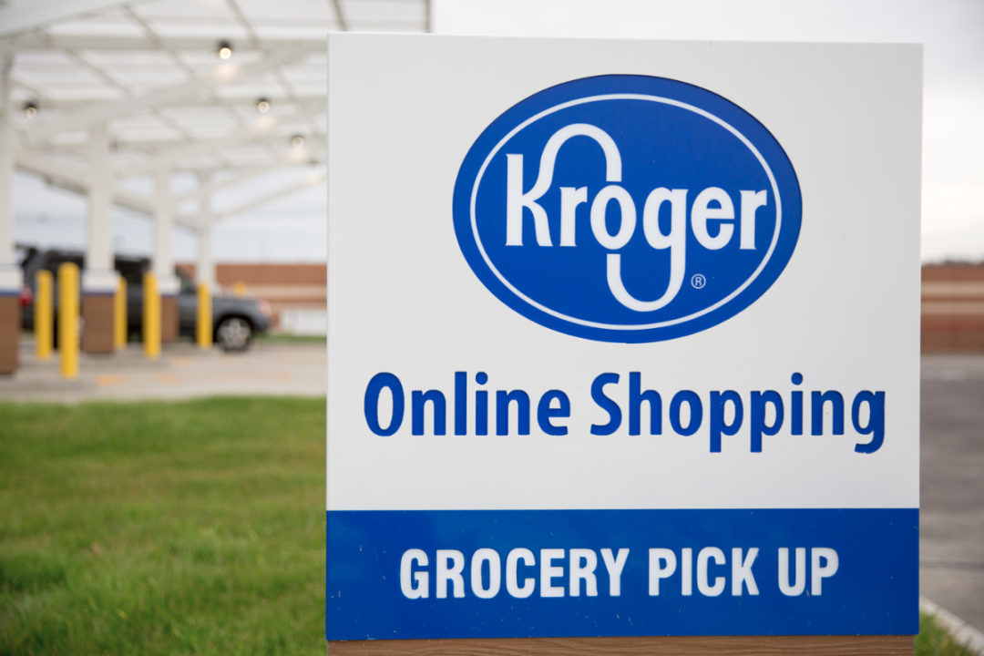 Kroger grocery pick up sign