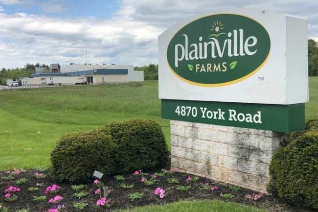Plainville Farms business sign