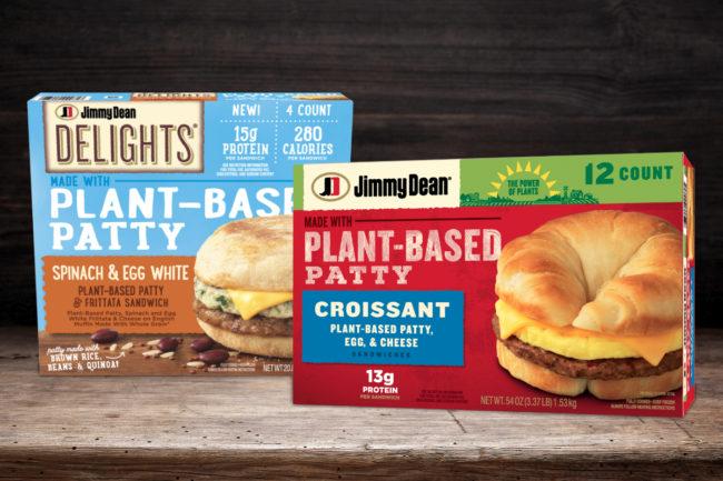 Jimmy Dean plant-based patty breakfast sandwiches