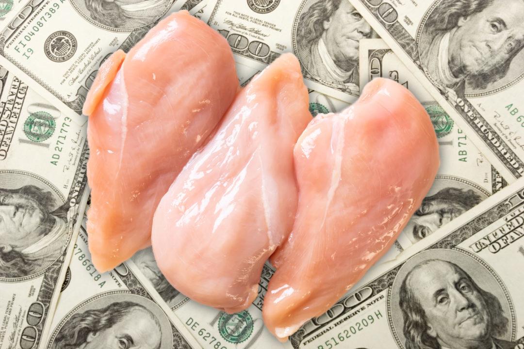 Money and chicken
