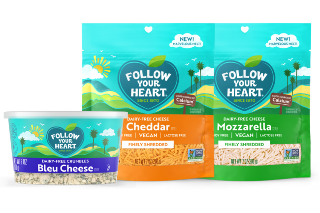 Plant-based cheese alternatives from Follow Your Heart