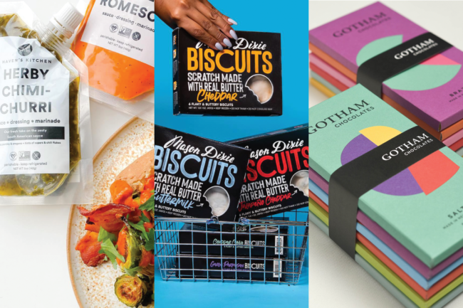 Haven's Kitchen sauces, Mason Dixie biscuits and Gotham Chocolate bars