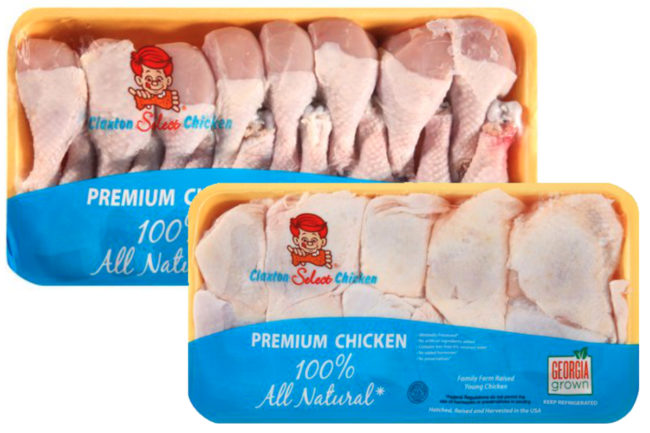 Claxton Poultry Farms chicken products