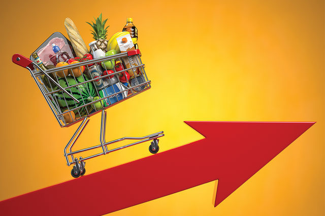 Grocery inflation concept