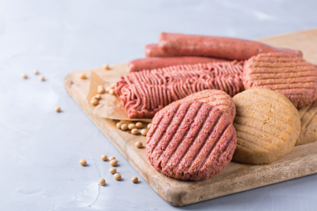 Uncooked plant-based meat alternatives