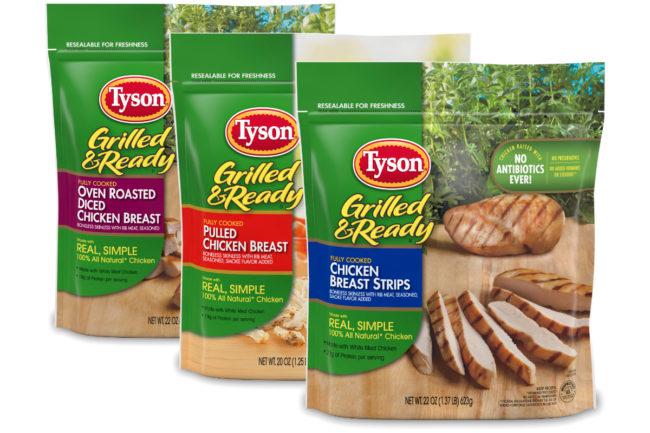 Tyson grilled chicken recalled products