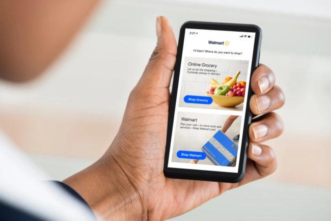 Walmart online grocery app