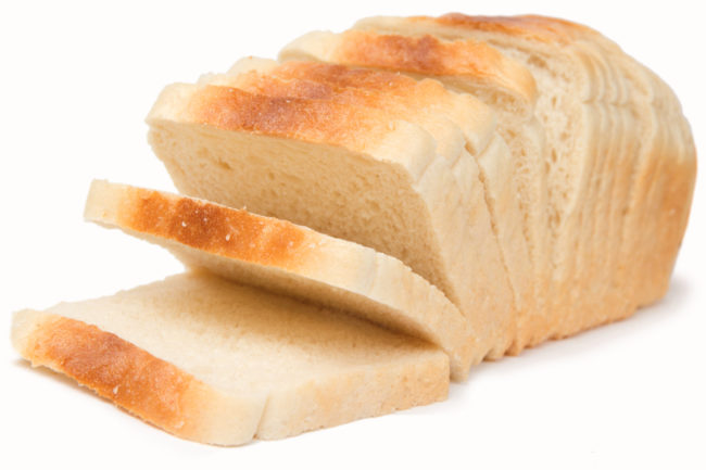 White sliced bread