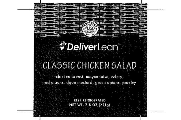 Deliver Lean chicken salad products were recalled on concerns of Listeria contamination.