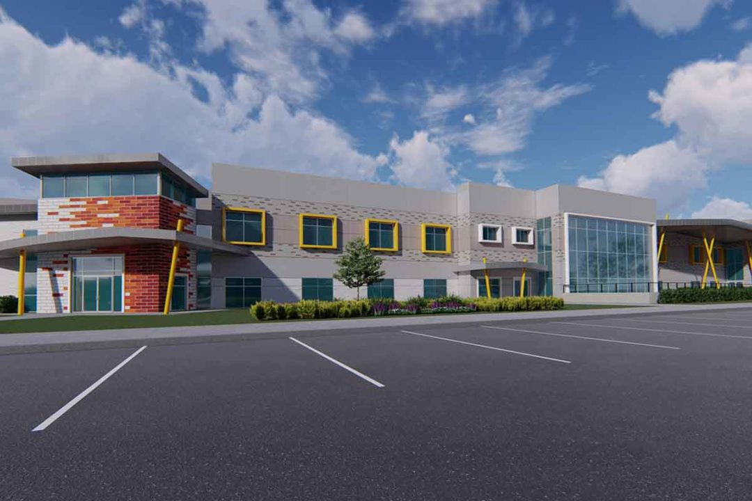 Rendering of new Bell & Evans facility