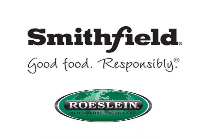 Smithfield Foods and Roeslein Alternative Energy company logos