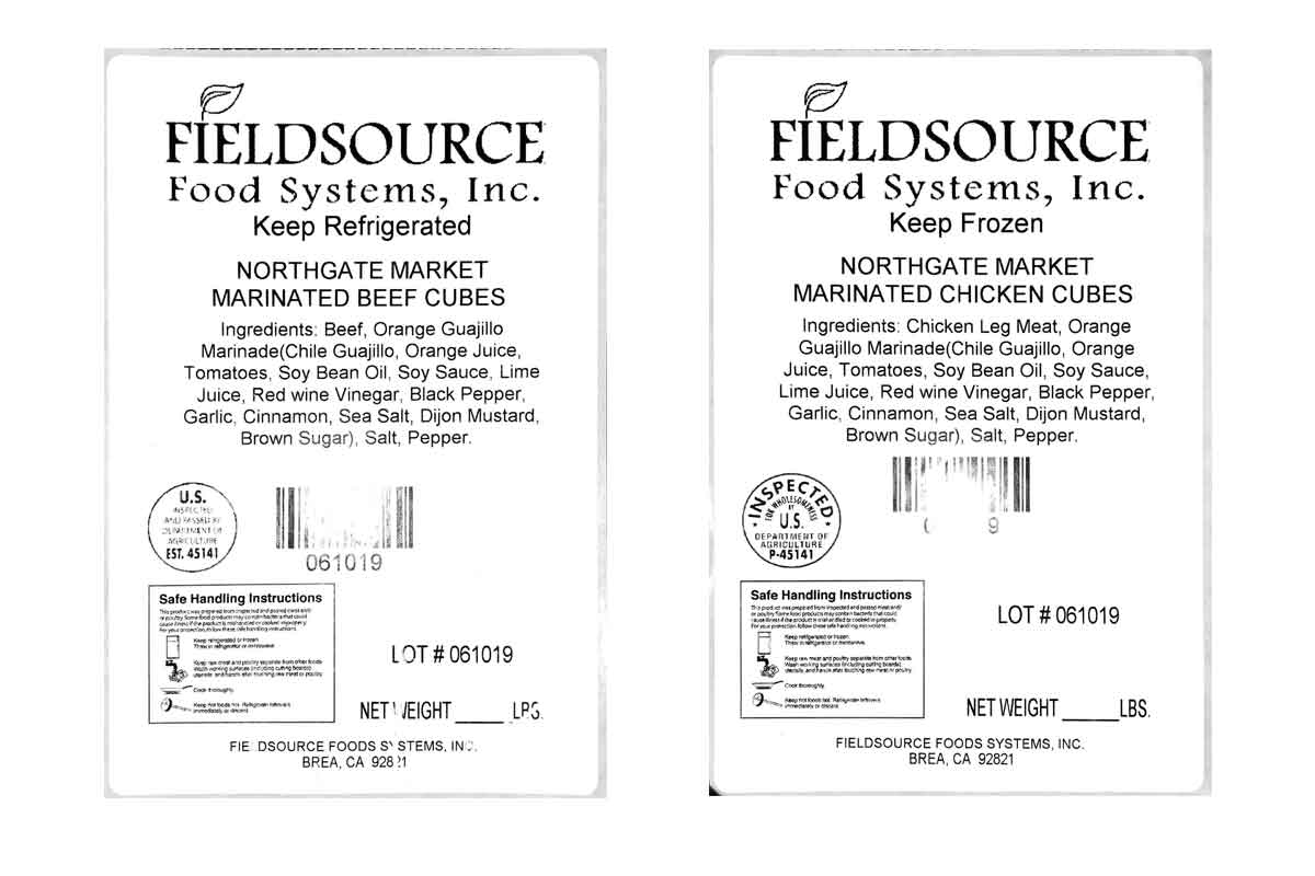 fieldsource labels