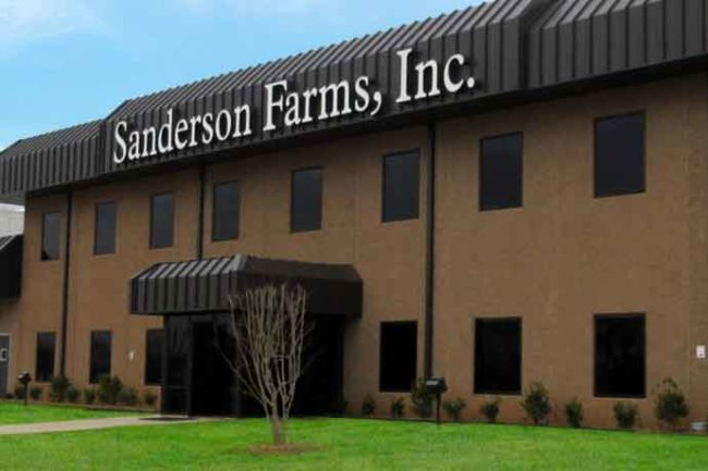 Sanderson Farms Palestine, Texas plant office.
