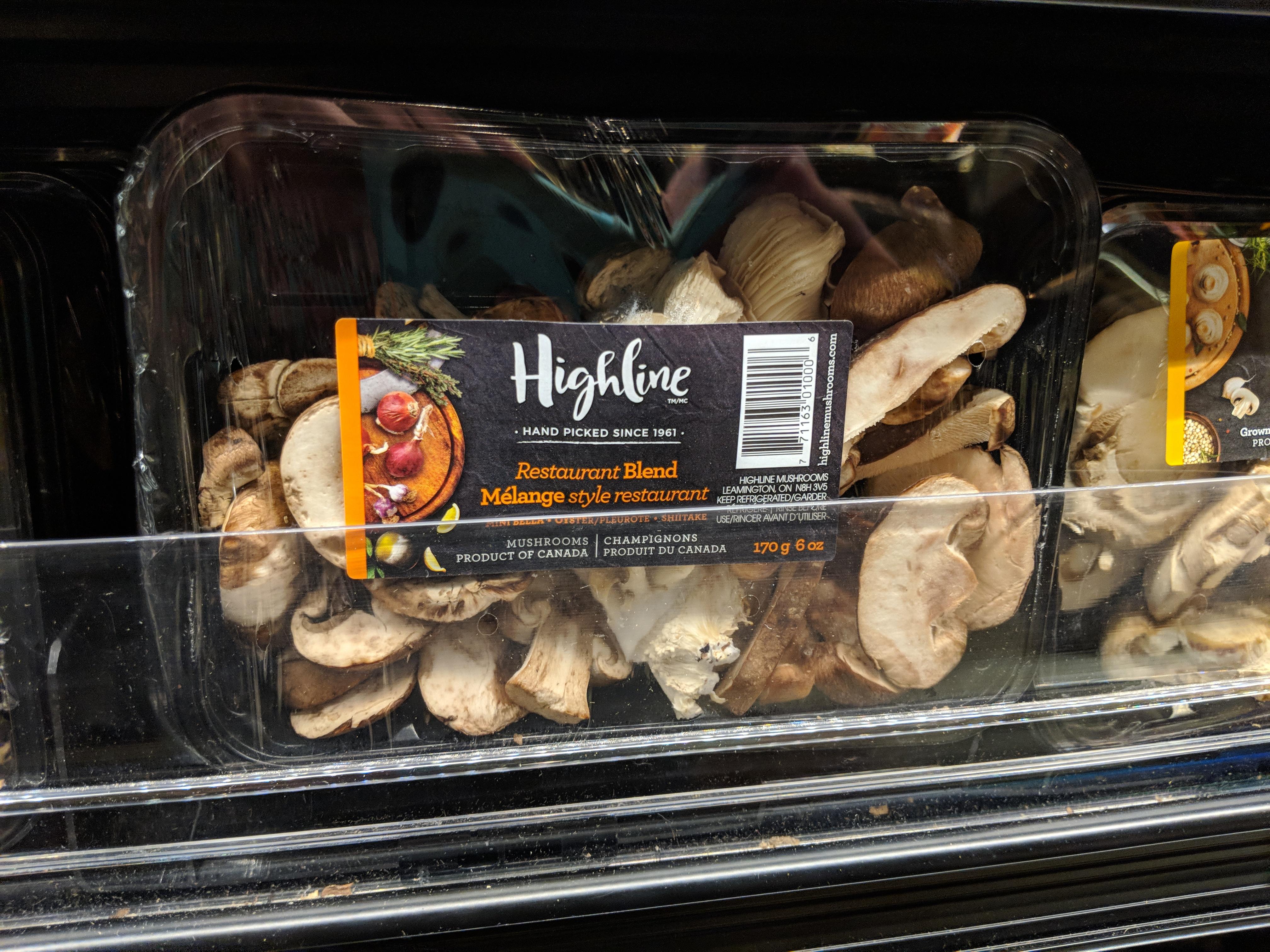highline mushrooms sp