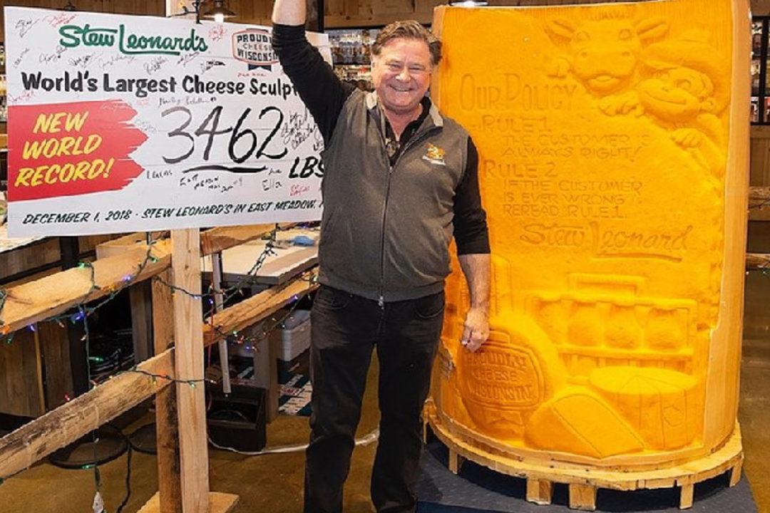 stew leonard record cheese